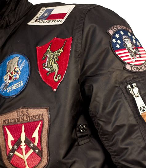 Jacket Bomber Patch Black Jaket Wanita official b 15 s flight bomber jacket with patches black size xl property room