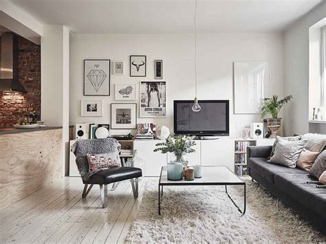 Scandinavian Style Living Room by Scandinavian Interior Apartment With Mix Of Gray Tones