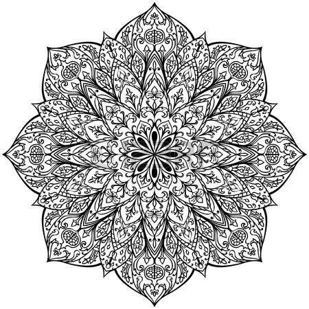 Motifs Orientaux à Imprimer by Vector Schwarz Wei 223 Mandala Isoliert Auf Wei 223 Em