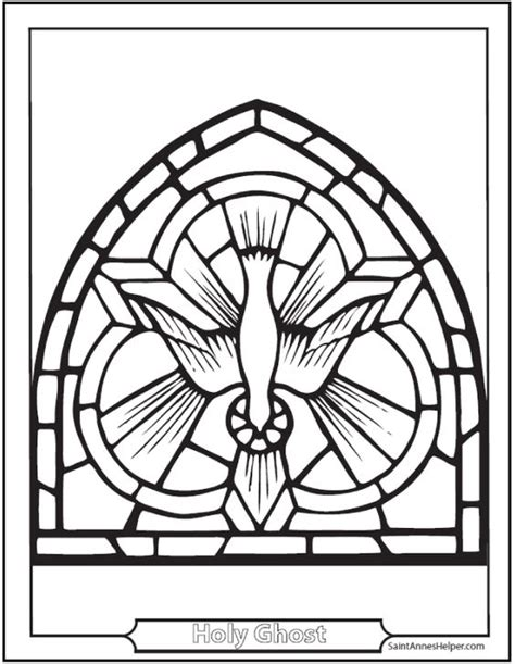 catholic mandala coloring pages catholic confirmation symbols stained glass holy ghost as