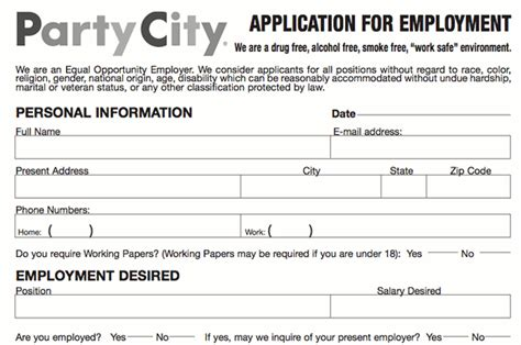 taco johns printable job application party city application pdf print out