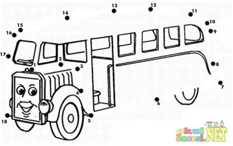 printable school bus dot to dot pin school buses coloring pages on pinterest