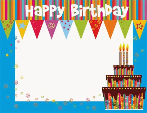 birthday card picture template free printable birthday cards ideas greeting card template