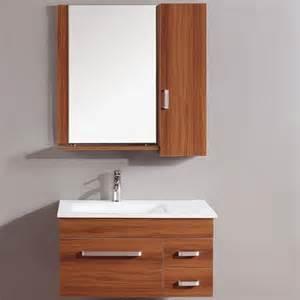 modern wall mount single sink bathroom vanity set by