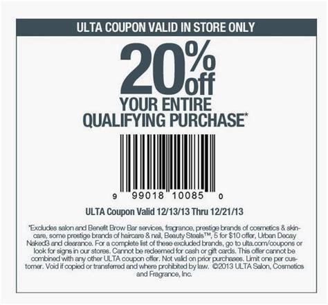printable ulta coupons november 2014 josie s smitty deals utla coupon 20 off purchase till 12 21
