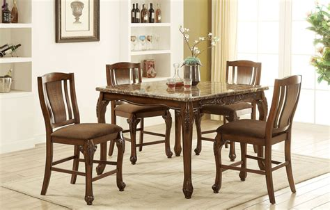 Cheap Dining Room Furniture Johannesburg by Johannesburg Brown Cherry Counter Height Dining Room Set