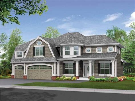 gambrel house plans gambrel roof and craftsman trim create stunning facade