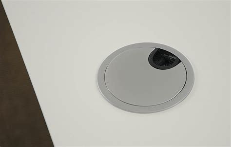 passacavi scrivania scrivania tavolo bianco telaio alluminio 2l msp2 1 hvidalu