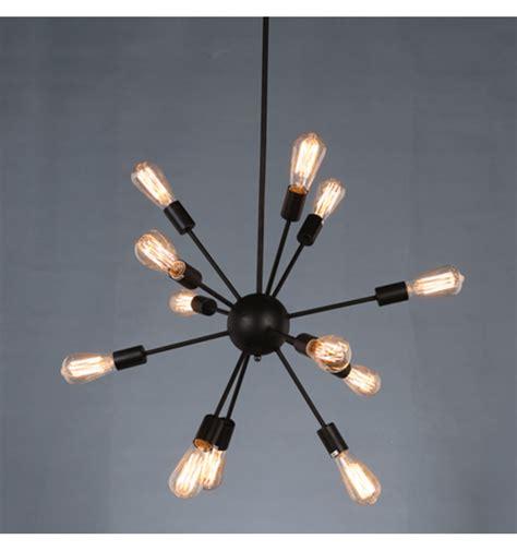 lustre transparent design lustre satellite noir 224 12 branches kapella luminaires