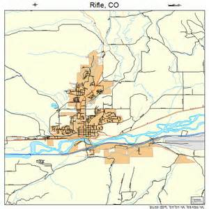 map of rifle colorado rifle colorado map 0864255