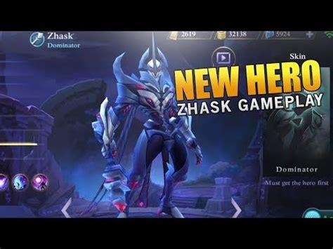 tutorial zhask mobile legend new hero zhask gameplay and best build mobile legends
