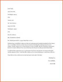 Lease Letter Early Lease Termination Letter Bio Exle