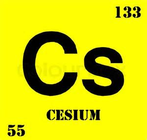 Cesium Periodic Table by Periodic Table Cesium Vector Colourbox