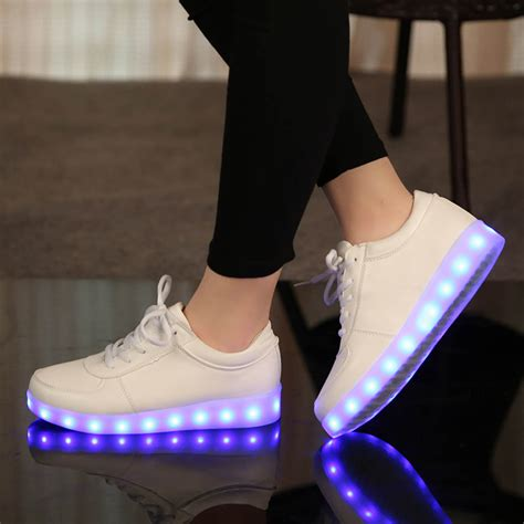 shoes with lights 7 colors luminous sneakers for led children