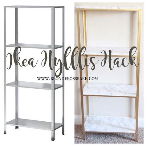 Ikea Hyllis gold and marble ikea hyllis hack