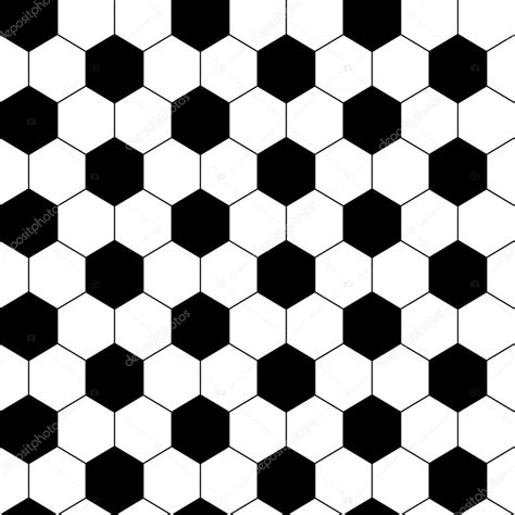 hexagonal pattern stock vector black and white hexagon soccer ball seamless pattern