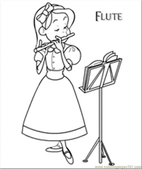 coloring pages flute entertainment gt instruments free