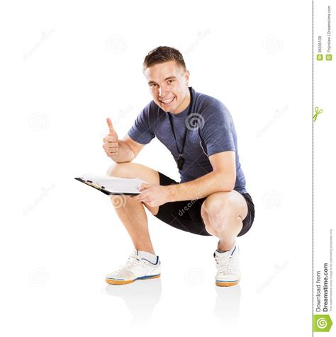 exercise couch fitness coach royalty free stock photos image 36595138