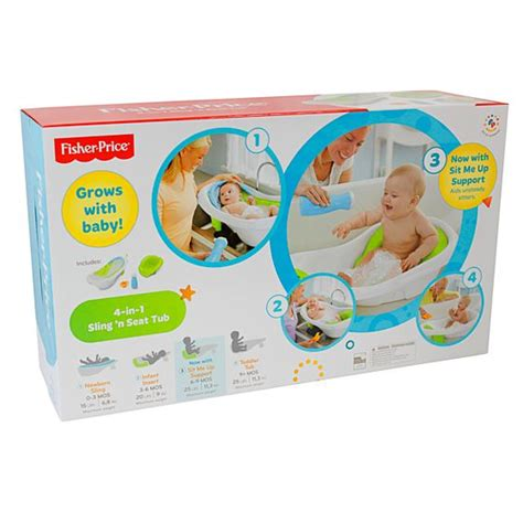 fisher price bathtub sling 4 in 1 sling n seat tub