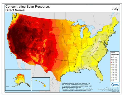solar radiation map usa solar maps geospatial data science nrel
