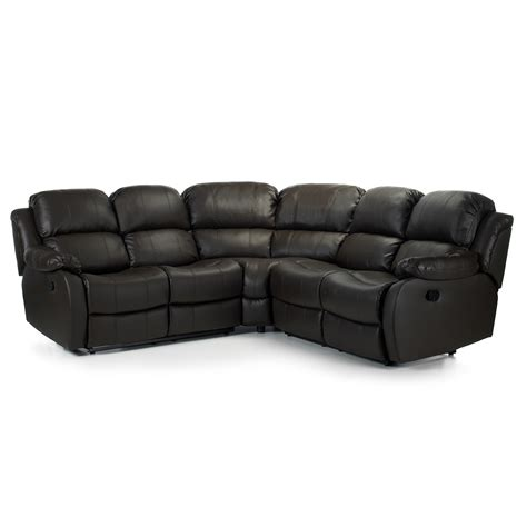 leather corner sofa corner sofa with recliner anton reclining leather corner