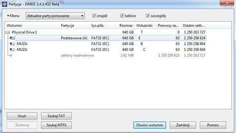 format raw fat32 zamiast fat32 jest raw testdisk nie pomaga zrzut dmde