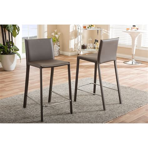 modern counter height stool baxton studio modern and contemporary taupe