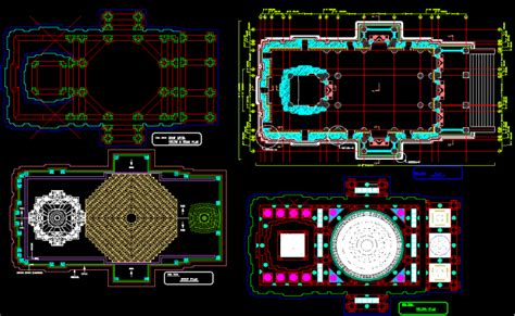 Ceiling Plan Dwg by Temple Roof And Ceiling Design