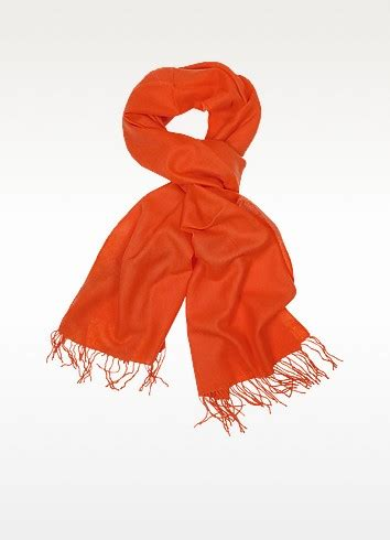 Pashmina Versace 01 coveri collection sunset fringed solid wool and