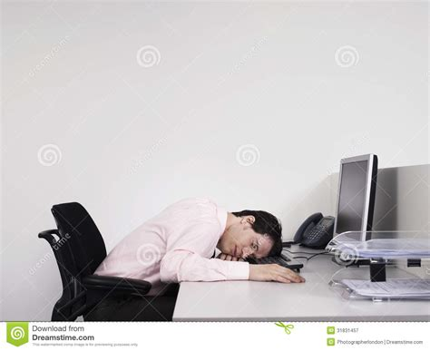 Office Worker At Desk Office Worker Asleep At Desk Royalty Free Stock Photography Image 31831457