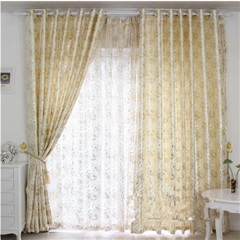 Light Yellow Curtains Traceries Customize Window Curtains Cloth Dodechedron Bronzier Light Yellow Beige Curtains Tulle