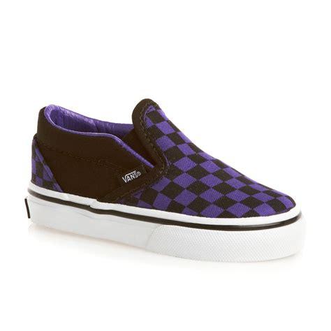 vans classic slip on shoes purple black free uk