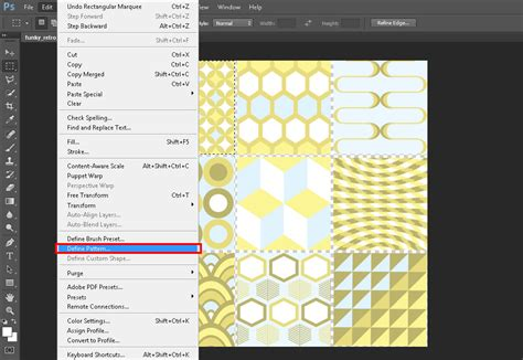 pattern name photoshop how to import and create photoshop patterns