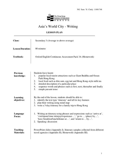 Essay Writing Lessons by Writing An Essay Lesson Plans Glenc