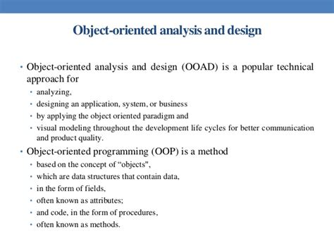 pattern oriented analysis and design pdf object oriented systems development ali bahrami pdf