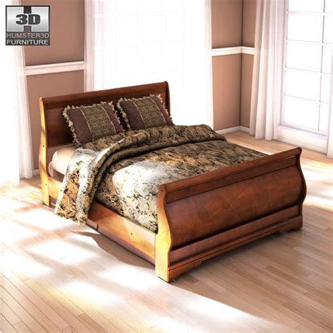 ashley queen bed ashley wilmington queen sleigh bed 3d model game ready