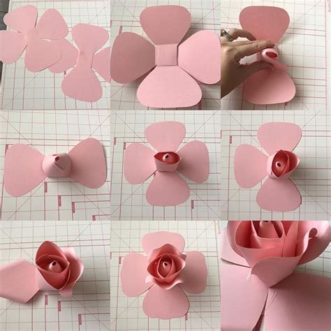 paper flower wall tutorial diy paper flower with rose center new template not sold