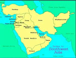 Western Asia Map by Sw Asia Gallery