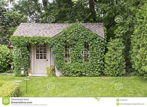 garden house covered with vines stock photo image 34324722