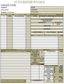 auto repair invoice template auto repair invoice template 7 auto repair invoice