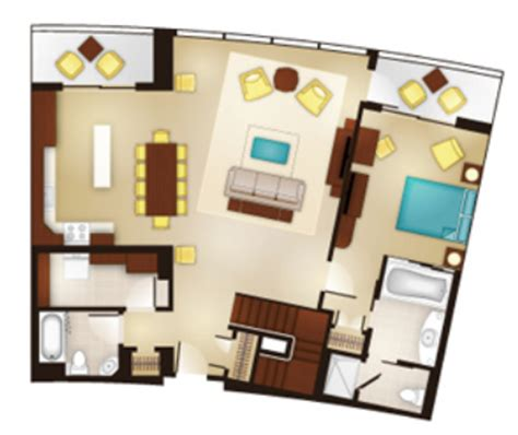 bay lake tower two bedroom villa floor plan luxury and location the rooms of bay lake tower at