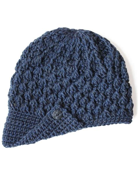 free crochet pattern hat pinterest yarnspirations com patons to the peak hat patterns