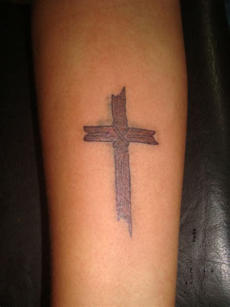 wood cross tattoos wooden cross tattoos for pictures to pin on