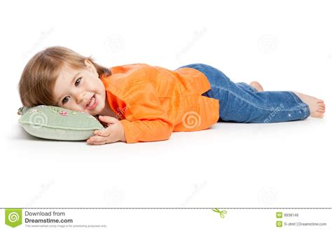 Lie For Sound With The Cubic Pillow by Lying On The Pillow Stock Photo Image 9938146