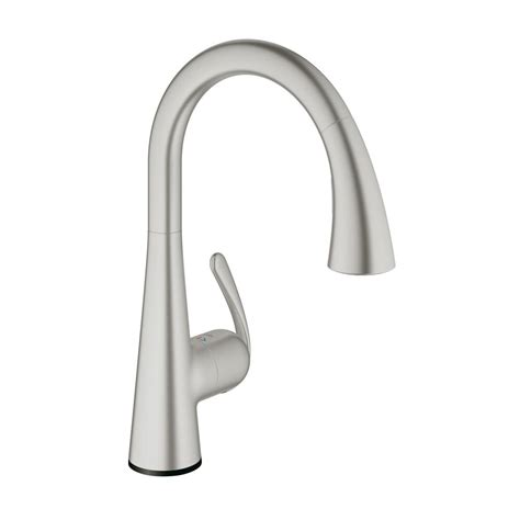 grohe faucets kitchen grohe ladylux cafe touch single handle pull down sprayer