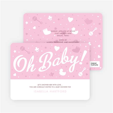 baby shower things to do oh baby shower things paper culture