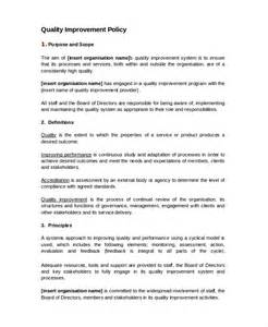 Free Quality Assurance Policy Template by Quality Policy Template 8 Free Word Pdf Documents