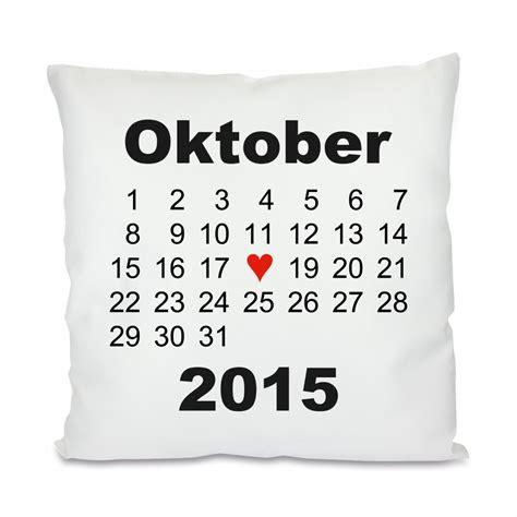 kissen mit motiv modell herztag kalender - Kissen Mit