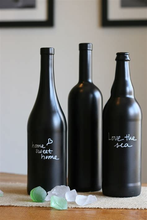 chalkboard paint glass bottles diy chalkboard paint ideas for home home style