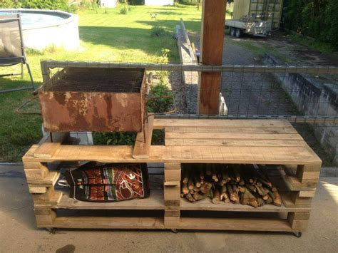 building a bbq bench wooden pallet bbq grill table 101 pallets